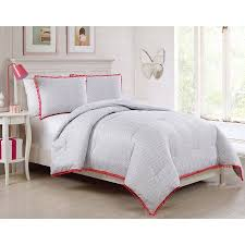 Walmart Chevron Bedding by Vcny Home Amelie Pink Chevron Pom Pom Bedding Comforter Set