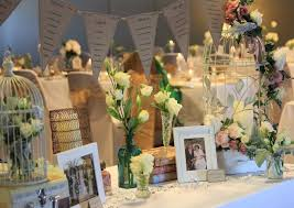 Ideas Elegant Rustic Wedding Decorations White Polyester Tablecloth Rectangle Table Transparent Glass Centerpieces Space