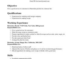 sle bartender resume skills unforgettable bartender resume