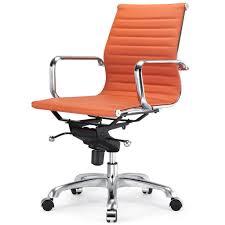 Orange Leather fice Chair – Desk Wall Art Ideas