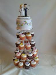 Blossom Flower Colourful Cupcakes Wedding Cake Tower Created By MJ Mjscakesco