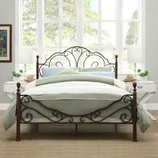 Metal Bed Frame Antique Vintage Country Rustic Victorian Style Bedroom Furniture