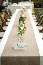 Burlap Table Runner Modern Rustic Industrial