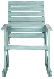 Outdoor Rocking Chair In Beach House Blue Finish