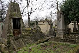 Download Rainy Day Sets The Mood For Sightseers Walking Through Pere LaChaise CemeteryParis