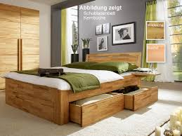 schubladenbett 140x200 caro massivholz geölt casade mobila