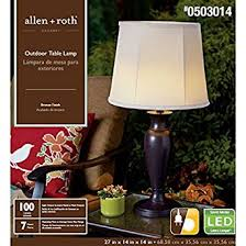 Allen Roth Outdoor Floor Lamp by Allen Roth Cadenby 27 In Resin Solar Led Outdoor Table Lamp