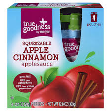 Meijer Artificial Christmas Trees by True Goodness Squeezable Apple Cinnamon Applesauce 4 Pouches