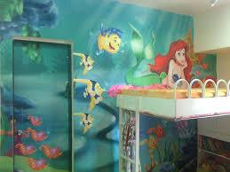 little mermaid themed bathroom office and bedroom