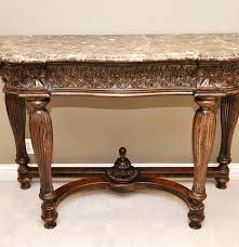 Drexel Heritage Sofa Table by Drexel Heritage Marble Top Console Table Ebth