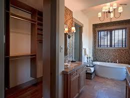 contemporary master bathroom with walk in closet hgtv