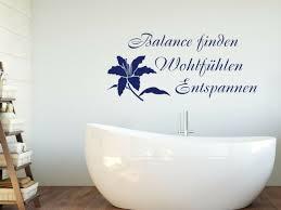wandtattoo wellness mit blume badezimmer aufkleber tür