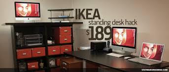Standing Desks Ikea Ikea Standing Desk Hack Stef Marcinkowski