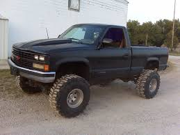 Blue Cheverolet Silverado Lifted Truck | Everything With Wheels ...