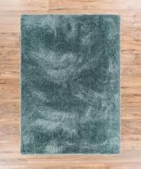 Shimmer Shag Ocean Blue Solid Plain Modern Luster Ultra Thick Soft