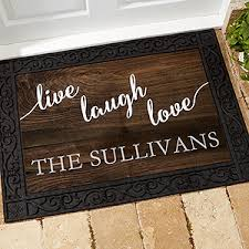 Personalized Family Doormat Live Laugh Love For The Home