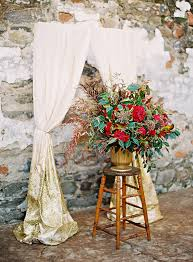Red And Gold Wedding Decor