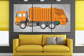 100 Garbage Truck For Kids Truck Canvas Room Wall Art Truck Print Etsy