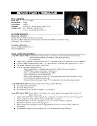 Sample Of Formal Resume