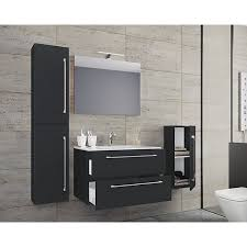 5 tlg waschplatz badmöbel badezimmer set waschtisch waschbecken schubladen keramik badinos spiegel schwarz vcm