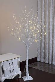 Lightshare 6 Feet Lighted Birch Tree 72 LED Lights Decoration For Home Wedding
