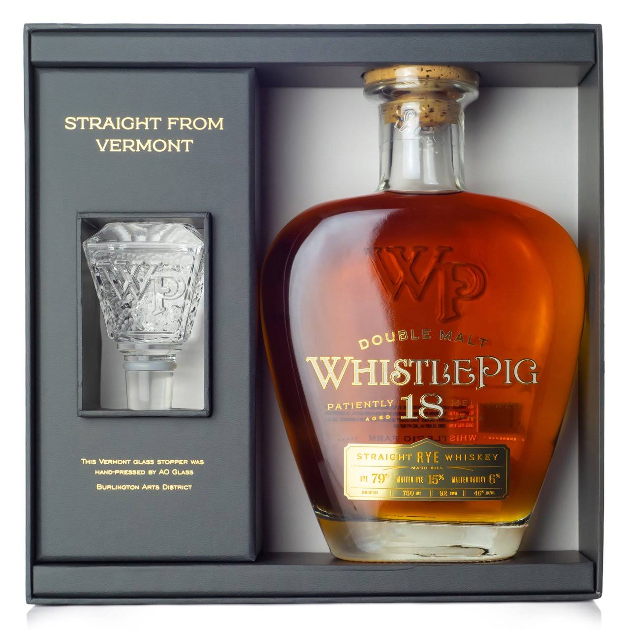 Whistlepig 18 Year Old Straight Rye Whiskey 750ml