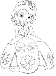 Princess Coloring Pages Photo In At Printable Baby