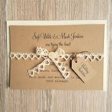 Rustic Vintage Lace And Button Wedding Invitations 3