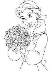 Full Image For Coloring Pages Of Belle The Princess Disney Who