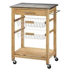 alinea meuble de cuisine desserte de cuisine en bois et zinc l100cm zink meubles