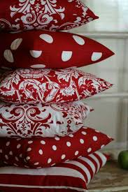 Red Decorative Pillows by Best 25 Red Cushions Ideas On Pinterest Red Pillows Ticking