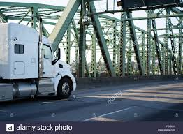 100 Commercial Truck Routes Classic Powerful White Big Rig Semi Truck With Big Cab Sleeping