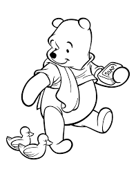 Winnie The Pooh Coloring Page Take A Shower