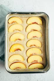einfacher rührkuchen mit pfirsichen vegane vibes