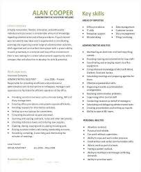 Administrative Assistant Skills Resume Elegant Sample Executive Fresh Admin