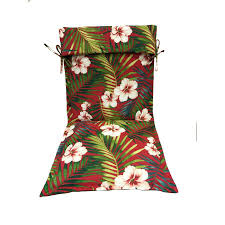 Garden Treasures Patio Furniture Cushions by Shop Garden Treasures Red Floral Standard Patio Chair Cushion For