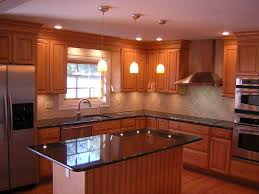 Kitchen Remodel Ideas Dark Cabinets White Cabinetry Set Island Pendant Lamps Light Brown Tile Wall Painting