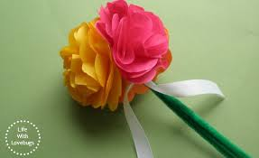 Tissue Paper Flowers From Life With Love Bugs Vibrant Coffee Filter Tutorial Fun At
