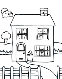 Marvellous House Coloring Pages Image 19