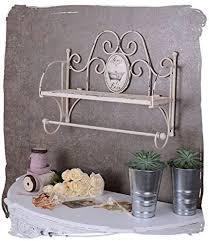 französischer vintage stil metall badezimmer regal