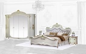 schlafzimmer barock in beige 4 teilig