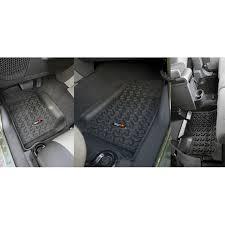 Quadratec Vs Rugged Ridge Floor Liners by Rugged Ridge 12987 01 Floor Liners Kit Black 07 15 Jeep