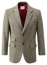 mens harris tweed jacket light heather