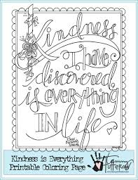 Lead Kindness Is Everything Coloring Page Tammytutterow