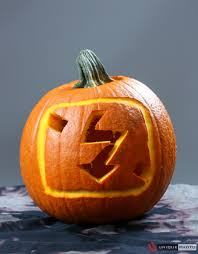 Pinterest Pumpkin Carving Drill by A Pumpkin Carved To Look Like The Flash Symbol On A Camera