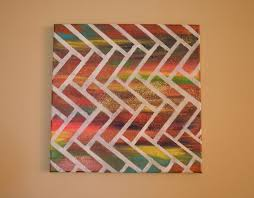 Easy DIY Abstract Canvas Painting