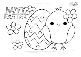 Happy Easter Coloring Pages Words Page Chicken Egg Flowers Religious