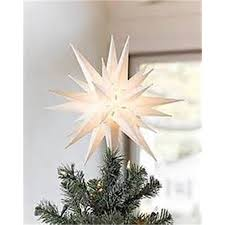12 Moravian Star Christmas Tree Topper Or Porch Light By Elf Logic