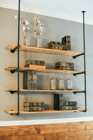 Wood Shelves Diy by Diy Dining Room Open Shelving Shelving Wood Grain And Patiently