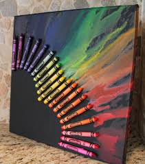 Melted Crayon Heart On Canvas